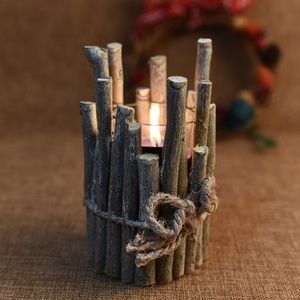 Other - 1 LEFT ❗️Rustic Farmhouse Wood Stick Candle Holder